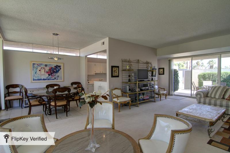 Seven Lakes - Open Concept Living and Dining Room with Views - Spacious and Bright Seven Lakes Golf Resort Condo - Palm Springs - rentals