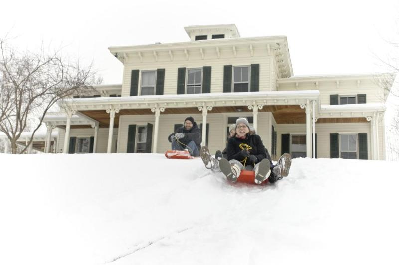 Sledding at Ledig House - The Retreat at Art Omi - Ghent - rentals