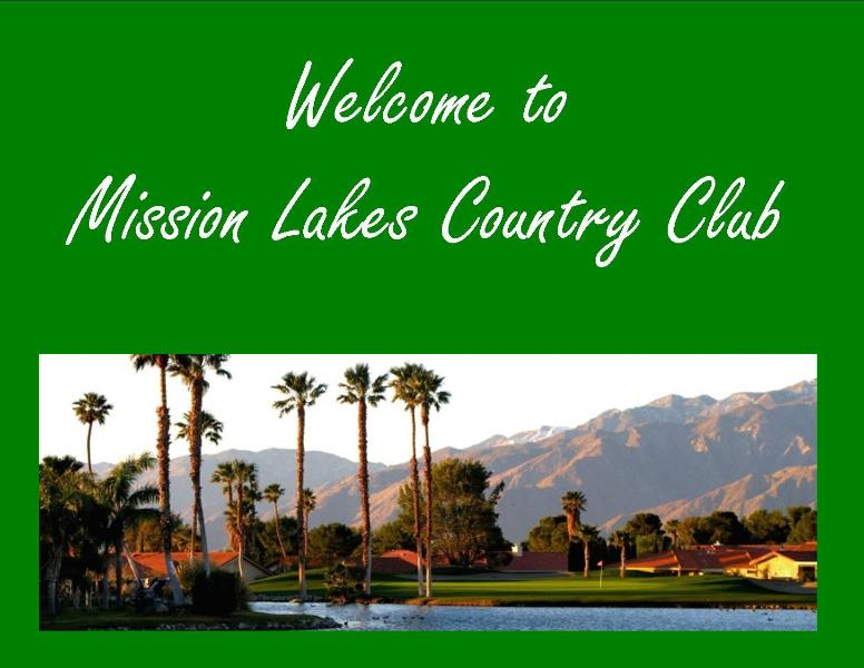 Welcome to Mission Lakes Country Club - Great  Mission Lakes Country Club Vacation Rental - Desert Hot Springs - rentals