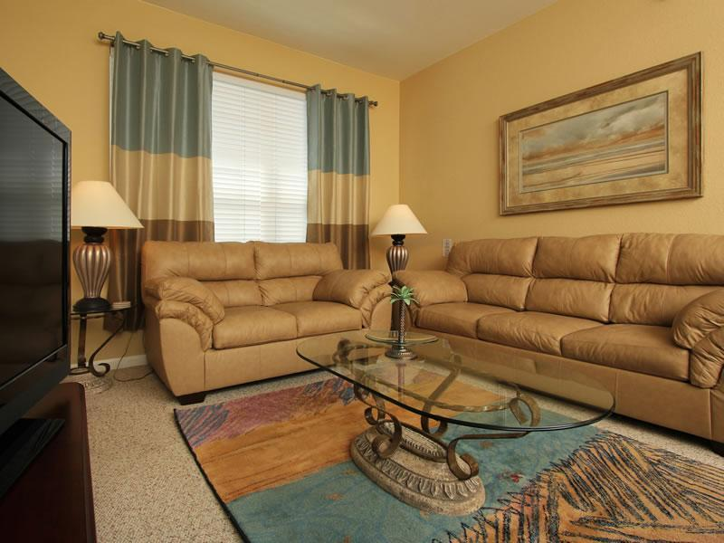 Beautiful Living Room w/Queen pull out; 42' HDTV; Comcast On-Demand; Blue Ray DVD - Disney Area Condo 2 Bed in Windsor Palms 5* Resort - Kissimmee - rentals