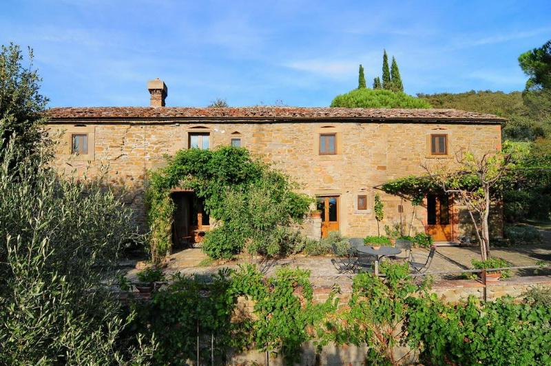 La Sorgente front view with terrace - CLASSIC TUSCAN HOMES - La Sorgente - Cortona - rentals