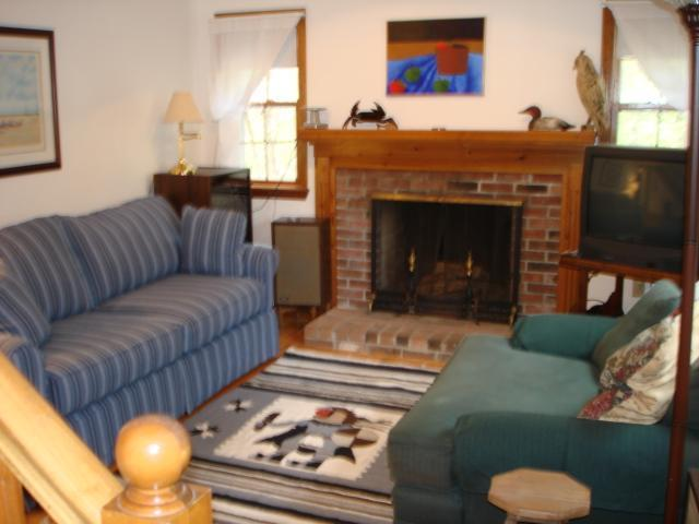 Living room - Freshwater pond access via path in neighborhood - Wellfleet - rentals