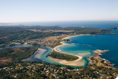 Tomakin beach aerial - Kingston cottage of Batemans Bay Pet Holidays - Tomakin - rentals
