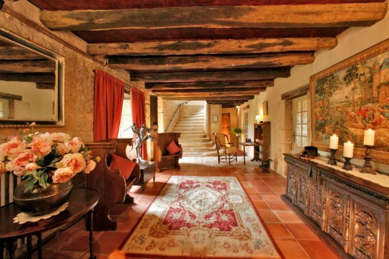 Foyer of Prieure - Le Prieure du Chateau de Biron - Biron - rentals