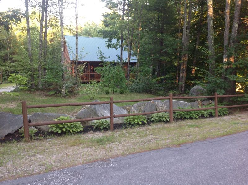 Cabin from the road - Newer Log Cabin, Three Wooded Acres in the Country - Madison - rentals