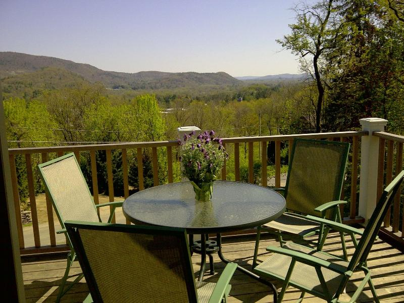 Stunning view from our balcony - Gem of the Berkshires, walk to downtown & lake. - Great Barrington - rentals