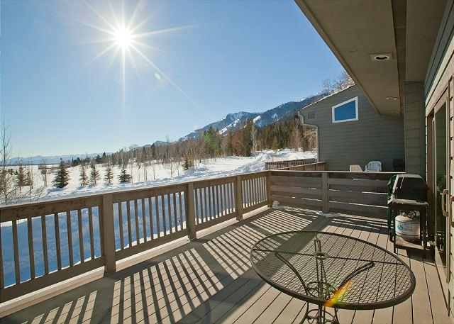 Western view from deck - Timber Ridge 4 - Great Unit for Families or Friends! - Teton Village - rentals