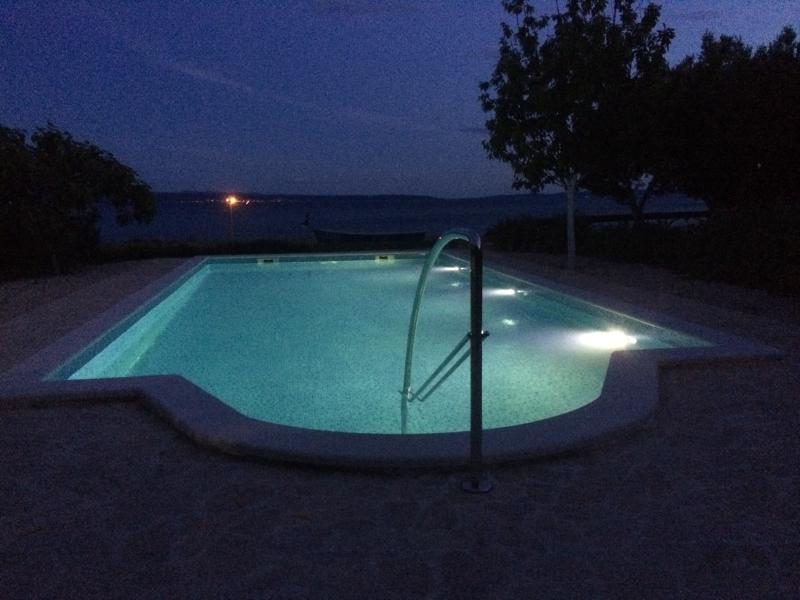 pool at night - Seafront house with pool near the beach,Split - Split - rentals