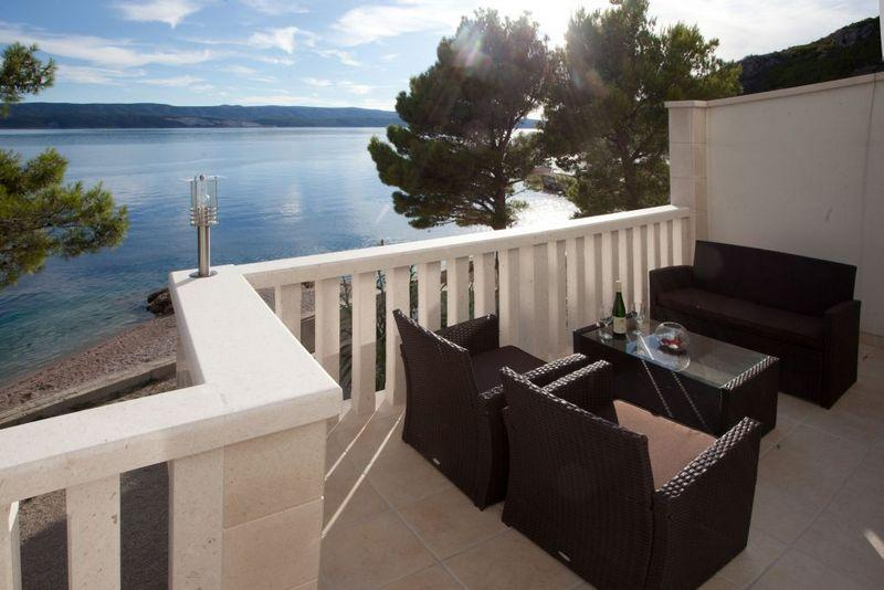 Terrace - Luxury apartments directly on the beach - Brela - rentals