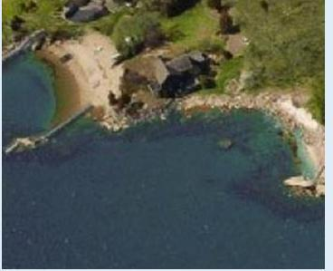 Two cresent beaches flank the home - Private  Beach 5 bedroom home w/in law apt - Branford - rentals