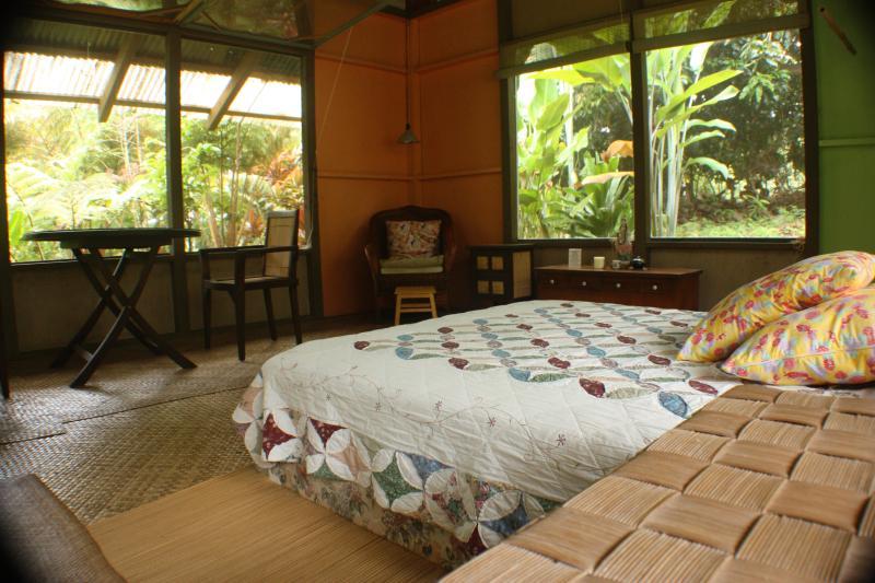 Sleep in comfort under ancient Mama Mango Tree amist the wild rainforest - Mango Tree Cottage, hidden hideaway - Hakalau - rentals