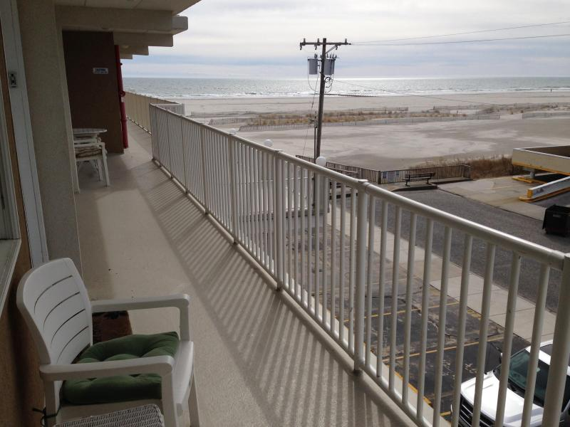 The view from balcony - Oceanfront building- room with a view! - Wildwood Crest - rentals