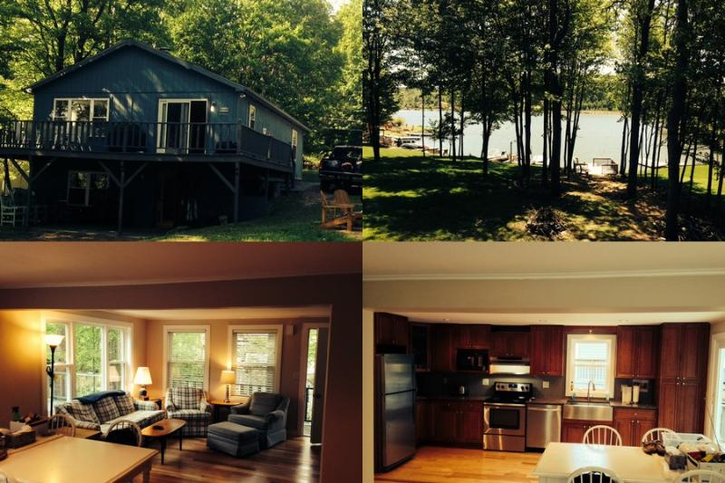 Collage - Overton's Retreat at Treasure Lake Lakefront Cabin - DuBois - rentals