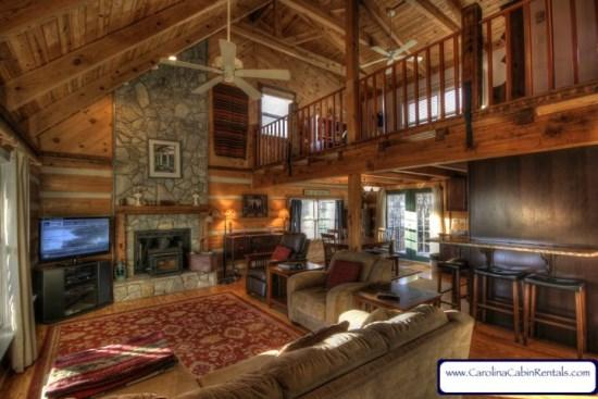Grandfather Vista Cozy Cabin With Stone, Wood-Burning Fireplace - Grandfather Vista - Boone - rentals