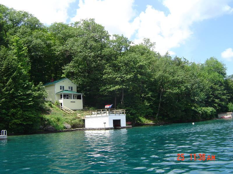 cottage from water - Finger Lakes Area of N.Y. Skaneateles Lake - Skaneateles Lake - rentals