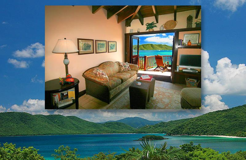 The Peter Bay Penthouse, surrounded by pristine beaches & bays, is a new Suite St. John 1BR villa! - Peter Bay Gatehouse Penthouse Suite - Saint John - rentals