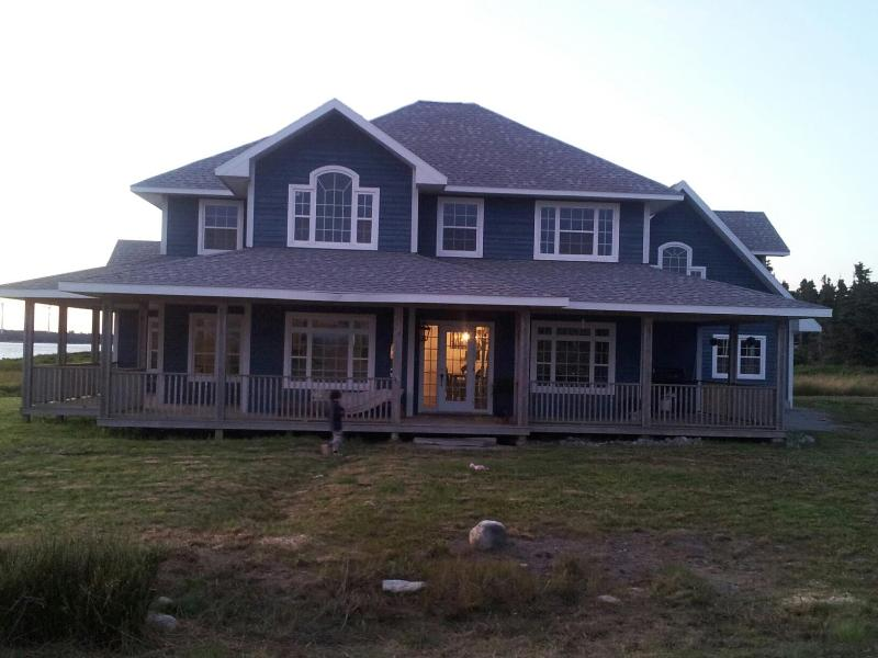 Front of House Before Painting the Deck White - Ocean Hermit House - Lower West Pubnico - rentals
