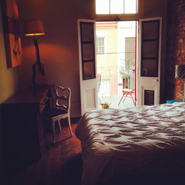 Queen Room #1 & Balcony Entrance - Amazing Quarter/Marigny Apartment - New Orleans - rentals