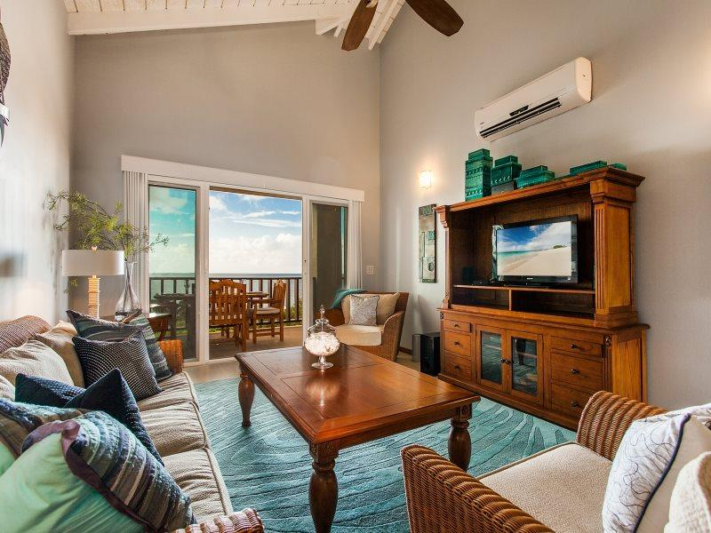 Great Room with Flat Screen TV  - Fountain Residences - One Bedroom Penthouse Located on Shoal Bay East, Anguilla - Shoal Bay Village - rentals