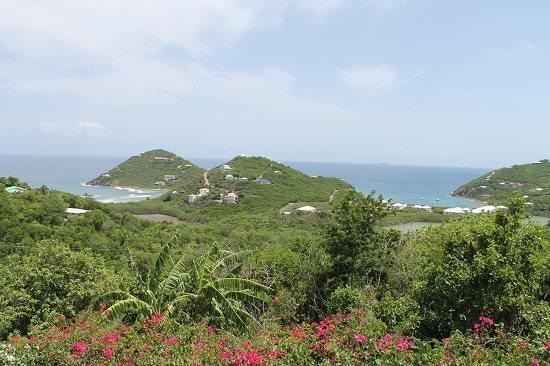 Views of the Caribbean Sea from full length, covered veranda on upper level - Sea Dream - Saint John - rentals