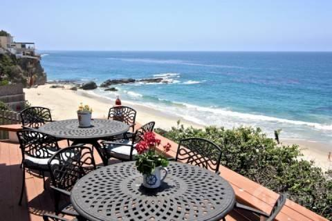 Ocean View Patio - Laguna Beach Oceanfront Cottage - Laguna Beach - rentals