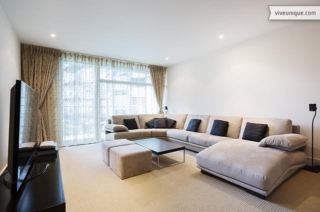 Thameside 2 bed, 2 bath, A/C. Chelsea Bridge Wharf - Image 1 - London - rentals