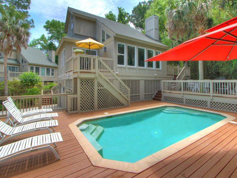 Pool and Deck Area at 13 Myrtle Lane - 13 Myrtle Lane - Forest Beach - rentals