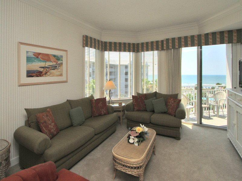 Living Room at 1404 Sea Crest - 1404 Sea Crest - Hilton Head - rentals