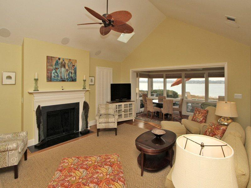 Living Room at 43 Lands End Road - 43 Lands End Road - Sea Pines - rentals
