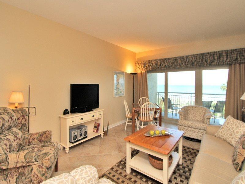 Living Room with Ocean Front Views at 472 Captains Walk - 472 Captains Walk - Palmetto Dunes - rentals