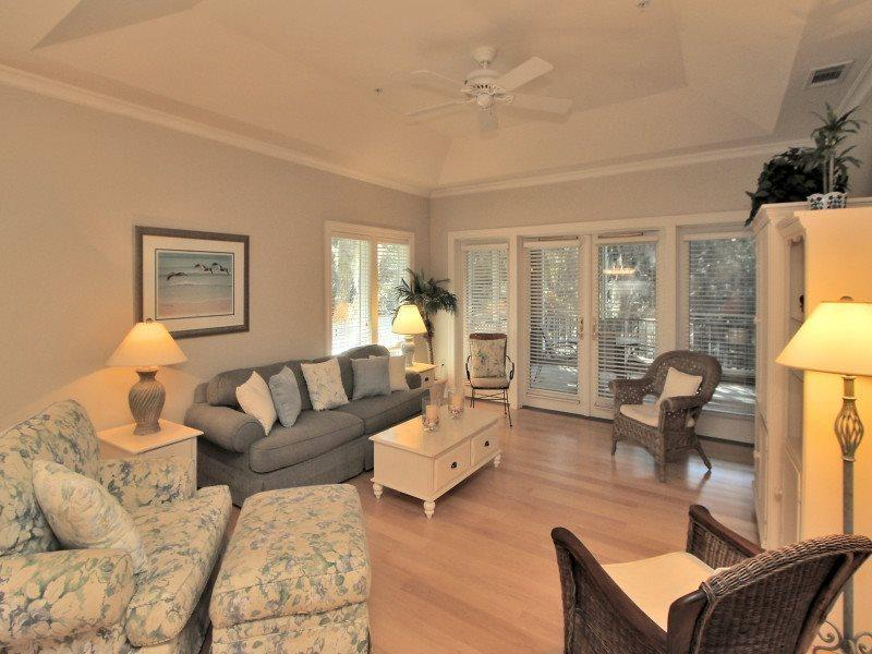 Living Room at 8114 Wendover Dunes with Screened in Porch Access - 8114 Wendover Dunes - Hilton Head - rentals