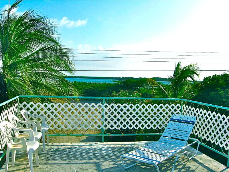 View from Ocean-View Sundeck - Large 4-BR Home for Groups ~ Ocean View, Free WIFI - Oranjestad - rentals