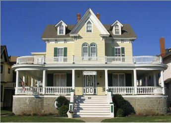 Beach Ave. view. Unit is in the rear wing. - 819 Beach Avenue 92451 - Cape May - rentals