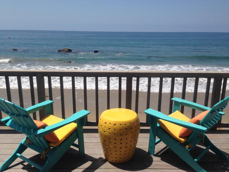 Upper deck - Malibu Oceanfront 3bd/2ba on the SAND! - Malibu - rentals