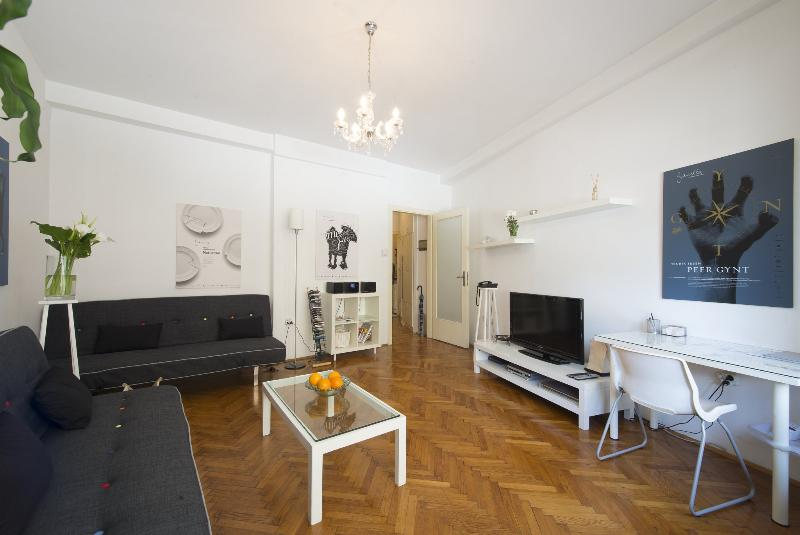 Bright and spacious living room - AWARD WINNING APARTMENT- RIGHT ON THE MAIN SQUARE! - Zagreb - rentals