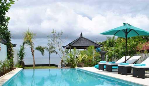 Uitzicht vanaf het terras - Villa Lotus Bali - Anturan - rentals