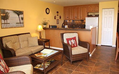 Living area from lanai - Molokai_Shores 223 - Kaunakakai - rentals