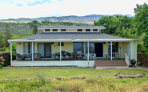 Back lanai and yard facing the ocean - A Ala Hale - Kaunakakai - rentals