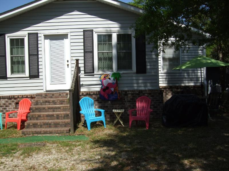 Serenity Cove - Serenity Cove-pet-friendly-walk  beach fence yard - Garden City Beach - rentals