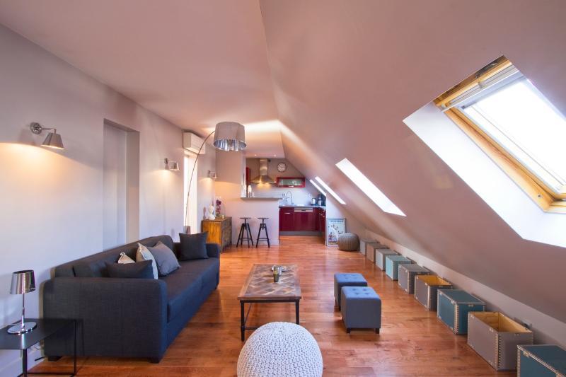 Living Room - Outstanding 3 Bedroom Apartment in Paris - Paris - rentals