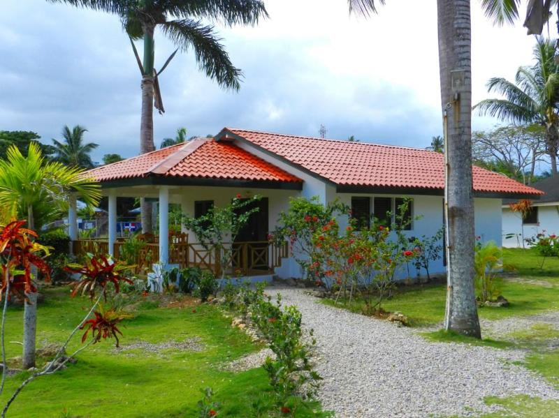 Cabana D with large kitchen, living area and bathroom, has large terrace - Single Studio Room Affordable Basic Accommodation - Las Terrenas - rentals
