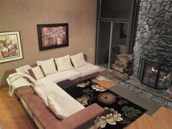 Living Room w Fire Place - The Lee Street Cabin at Brian Head Resort - Brian Head - rentals