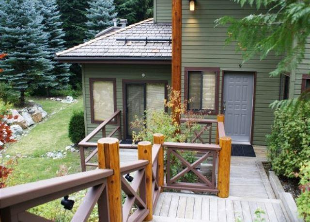 Outside view of property - Cedar Hollow 9 - Quiet mountainside forest location - Whistler - rentals