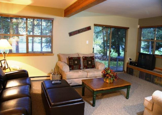 Living room - Forest Trails 17 - Blackcomb Benchlands Townhome with private garage - Whistler - rentals