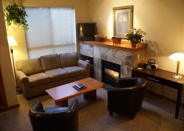 Living Room - Symphony 29 - 2 bedroom, hot tub access & free wifi on free shuttle route - Whistler - rentals