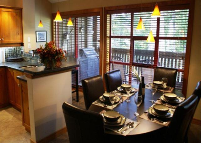 Kitchen/Dining area - The Woods 3 - Modern 3 bedroom unit in quiet wooded location - Whistler - rentals