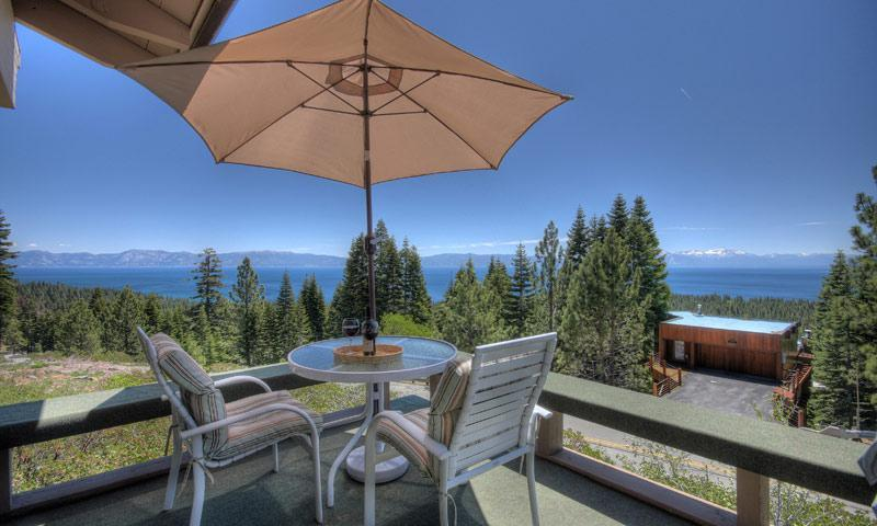 The huge wrap-around deck has panoramic lakeviews - fabulous sunsets! - Panoramic Lakeview,Hot Tub,WiFi,Total Remodl,Huge! - Tahoe City - rentals