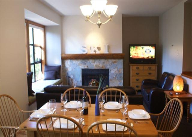 Dining/Living overview - The Woods 16 - Quiet wooded location, hot tub access on free shuttle route - Whistler - rentals