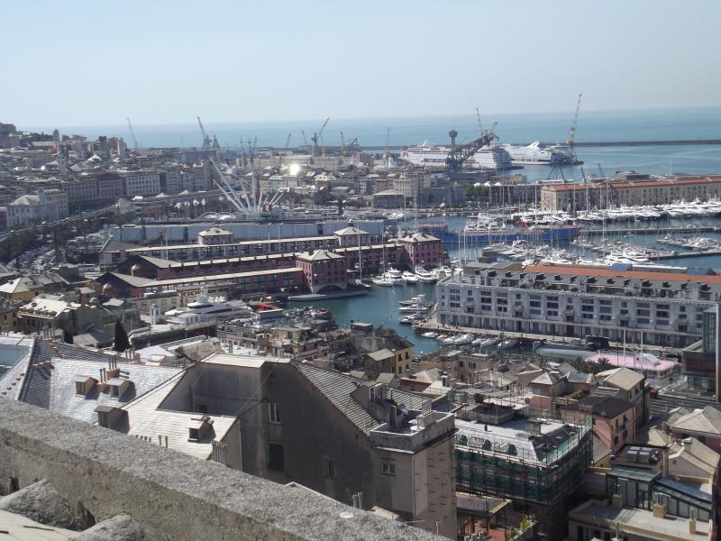 panorama from living room, main bedroom and kitchen - La Mansarda sul Mare - Genoa - rentals