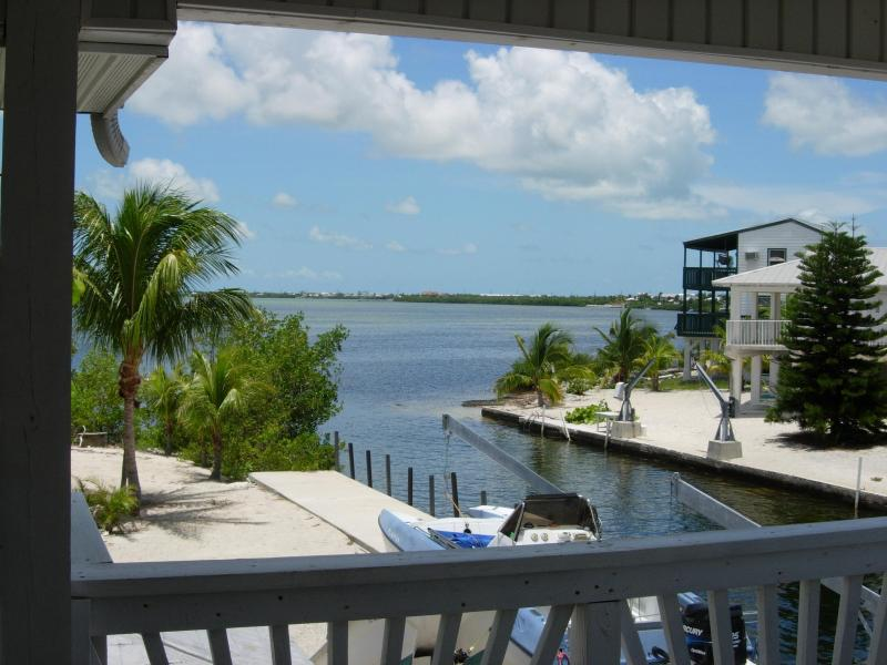 View from porch, balcony to Cudjoe Bay. - Water front-large boat dockage-seconds to the Bay - Cudjoe Key - rentals
